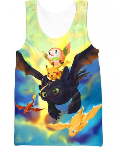 Dragon World - All Over Apparel - Tank Top / S - www.secrettees.com