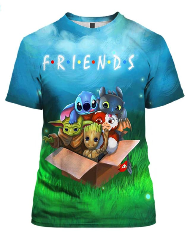 Friends Stitch Toothless Yoda Groot In Box