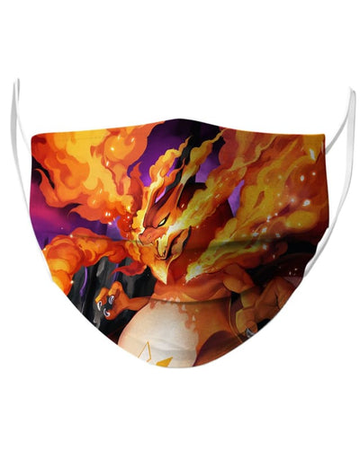 Gigantamax Charizard Face Mask - Face Mask - www.secrettees.com
