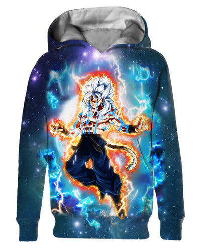 Goku And Transformation - All Over Apparel - Kid Hoodie / S - www.secrettees.com