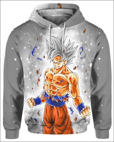 Goku Ultra instinct - All Over Apparel - Hoodie / S - www.secrettees.com
