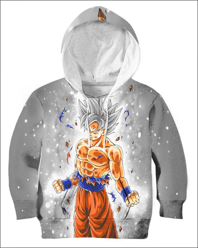 Goku Ultra instinct - All Over Apparel - Kid Hoodie / S - www.secrettees.com