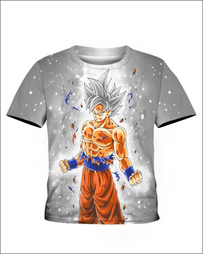 Goku Ultra instinct - All Over Apparel - Kid Tee / S - www.secrettees.com