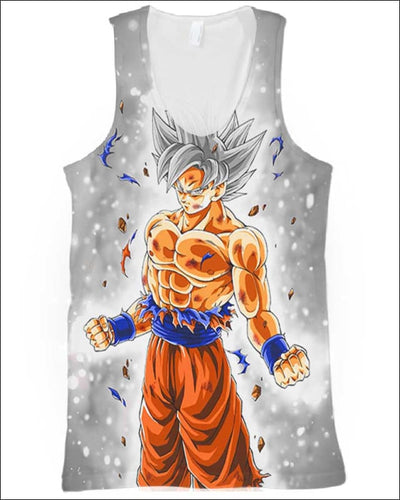 Goku Ultra instinct - All Over Apparel - Tank Top / S - www.secrettees.com