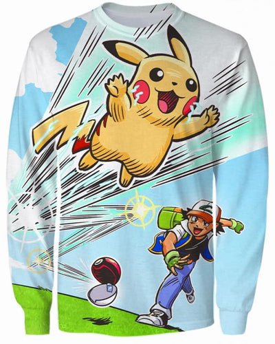 Gotta Catch 'Em All - All Over Apparel - Sweatshirt / S - www.secrettees.com