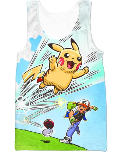 Gotta Catch 'Em All - All Over Apparel - Tank Top / S - www.secrettees.com