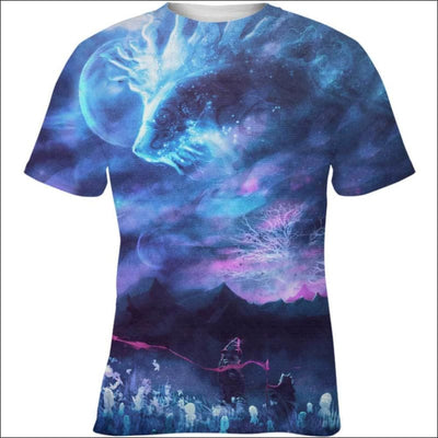 Great Forest Spirit God Galaxy - All Over Apparel - Kid Tee / S - www.secrettees.com