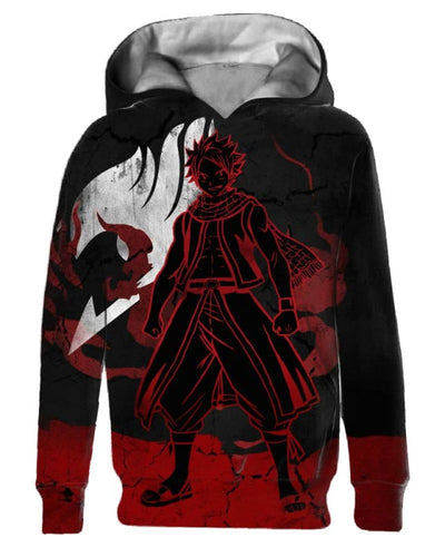 Heroic Dragneel - All Over Apparel - Kid Hoodie / S - www.secrettees.com