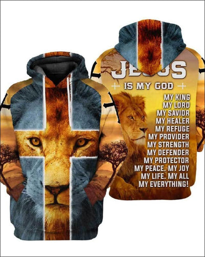 Jesus is my everything - All Over Apparel - Hoodie / S - www.secrettees.com