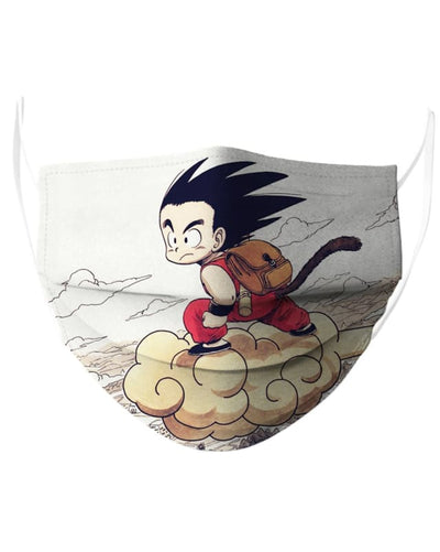 Kid Goku Fly Face Mask - Face Mask - www.secrettees.com
