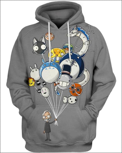Miyazaki's Balloons - All Over Apparel - Hoodie / S - www.secrettees.com