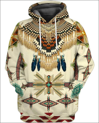 Native Pattern Beautiful - All Over Apparel - Hoodie / S - www.secrettees.com