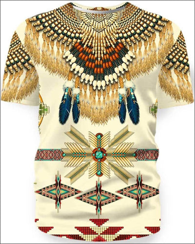 Native Pattern Beautiful - All Over Apparel - T-Shirt / S - www.secrettees.com