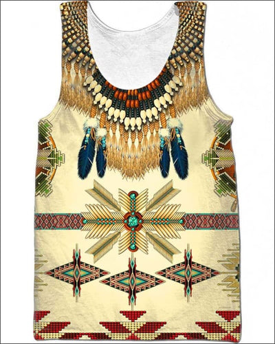 Native Pattern Beautiful - All Over Apparel - Tank Top / S - www.secrettees.com
