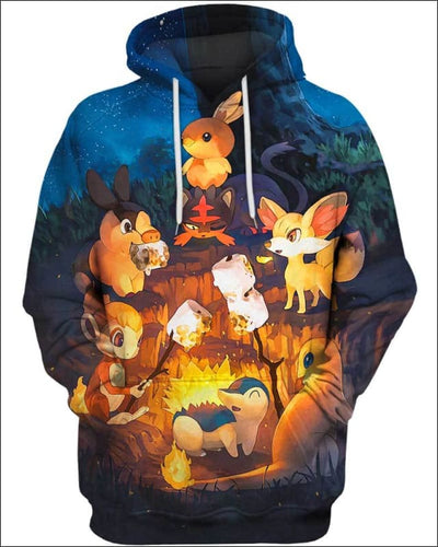 Night Fire - All Over Apparel - Hoodie / S - www.secrettees.com