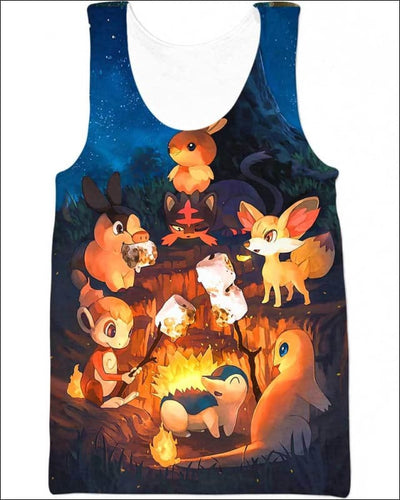 Night Fire - All Over Apparel - Tank Top / S - www.secrettees.com