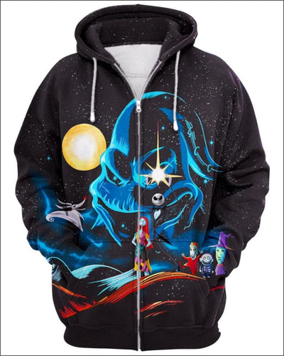 Nightmare Concept GOT - All Over Apparel - Zip Hoodie / S - www.secrettees.com