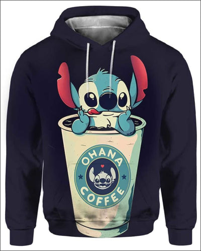 Ohana Coffee - All Over Apparel - Hoodie / S - www.secrettees.com