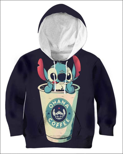 Ohana Coffee - All Over Apparel - Kid Hoodie / S - www.secrettees.com