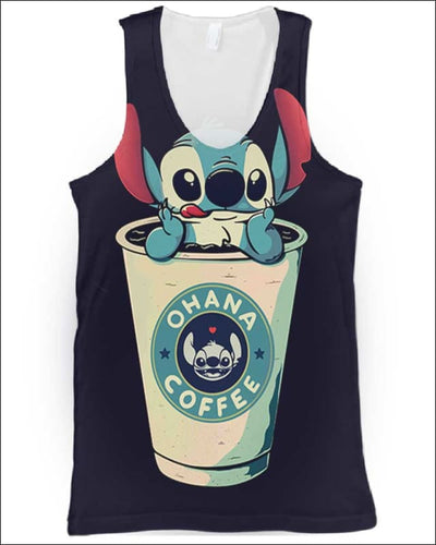Ohana Coffee - All Over Apparel - Tank Top / S - www.secrettees.com