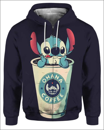 Ohana Coffee - All Over Apparel - Zip Hoodie / S - www.secrettees.com