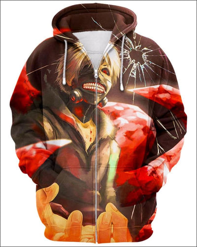 Overwhelmed - All Over Apparel - Zip Hoodie / S - www.secrettees.com