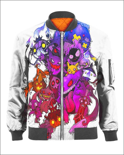 Pokemon Ghosts - All Over Apparel - Bomber / S - www.secrettees.com