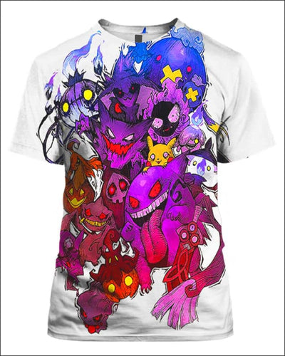 Pokemon Ghosts - All Over Apparel - T-Shirt / S - www.secrettees.com