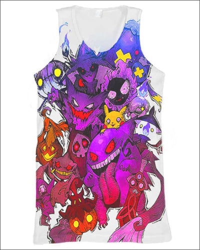 Pokemon Ghosts - All Over Apparel - Tank Top / S - www.secrettees.com