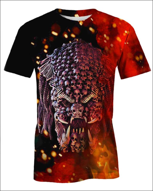 Predator Skull on Fire