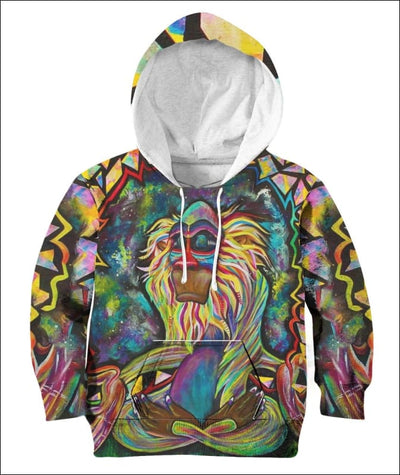 Rafiki Zen - All Over Apparel - Kid Hoodie / S - www.secrettees.com