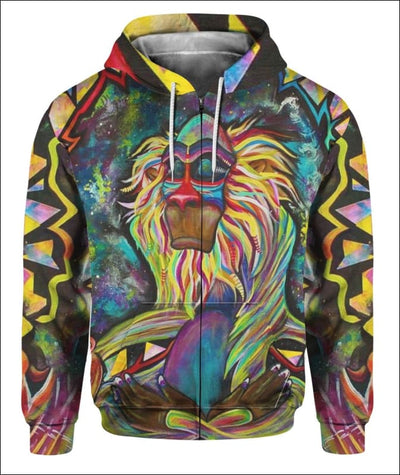 Rafiki Zen - All Over Apparel - Zip Hoodie / S - www.secrettees.com