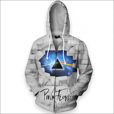 Rock The Wall - All Over Apparel - Zip Hoodie / S - www.secrettees.com
