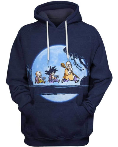 Saiyan Under The Moon - All Over Apparel - Hoodie / S - www.secrettees.com