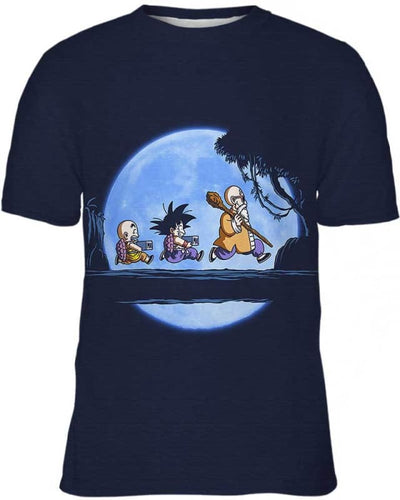 Saiyan Under The Moon - All Over Apparel - Kid Tee / S - www.secrettees.com