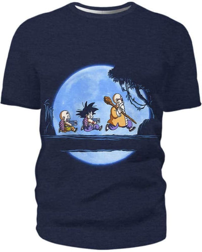 Saiyan Under The Moon - All Over Apparel - T-Shirt / S - www.secrettees.com