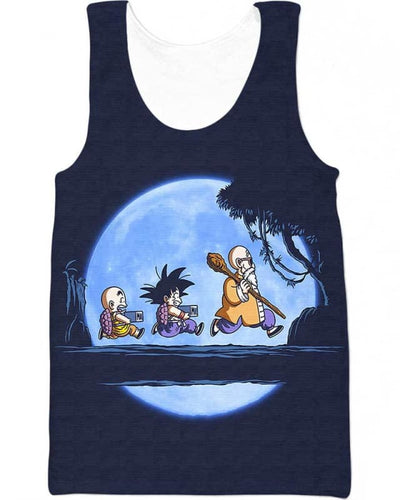 Saiyan Under The Moon - All Over Apparel - Tank Top / S - www.secrettees.com