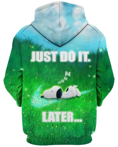 Snoopy - Just Do It Later - All Over Apparel - www.secrettees.com
