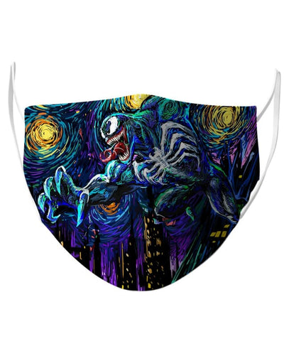 Starry Night Venom 2 Face Mask - Face Mask - www.secrettees.com