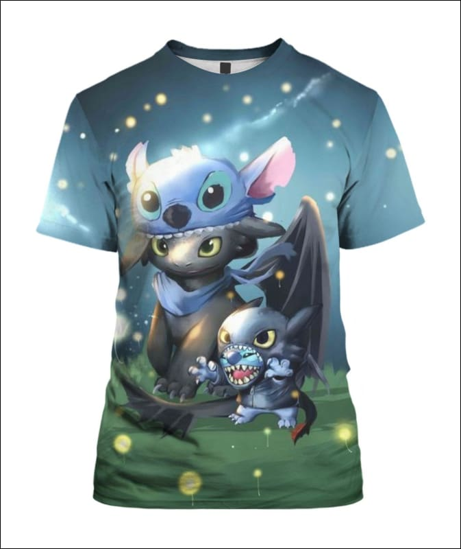 Stitch And Toothless