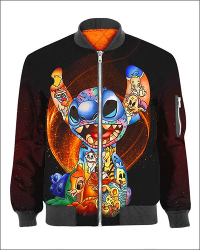 Stitch Paint Inside - All Over Apparel - Bomber / S - www.secrettees.com