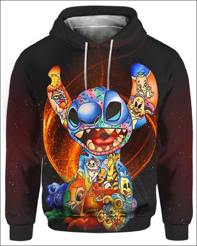 Stitch Paint Inside - All Over Apparel - Hoodie / S - www.secrettees.com
