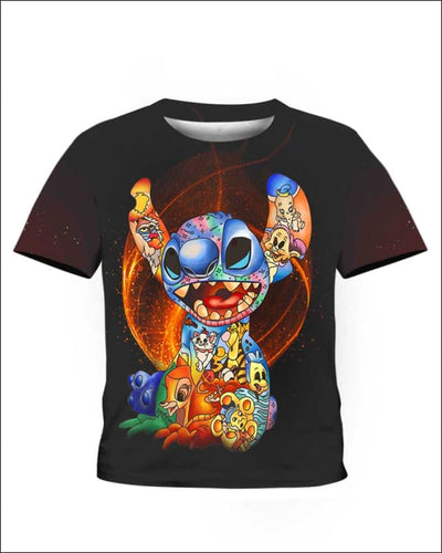 Stitch Paint Inside - All Over Apparel - Kid Tee / S - www.secrettees.com