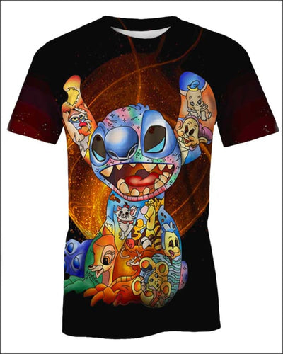 Stitch Paint Inside - All Over Apparel - T-Shirt / S - www.secrettees.com