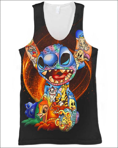 Stitch Paint Inside - All Over Apparel - Tank Top / S - www.secrettees.com