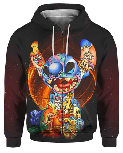 Stitch Paint Inside - All Over Apparel - Zip Hoodie / S - www.secrettees.com