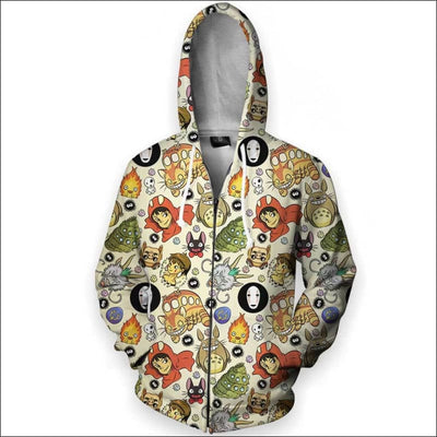 Studio Pattern - All Over Apparel - Zip Hoodie / S - www.secrettees.com