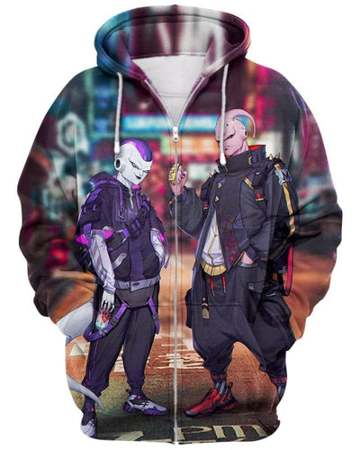 Stylish Aliens - All Over Apparel - Zip Hoodie / S - www.secrettees.com