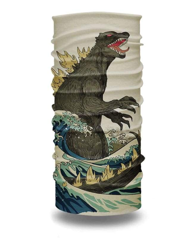 The Great Godzilla of Kanagawa Neck Gaiter Bandana