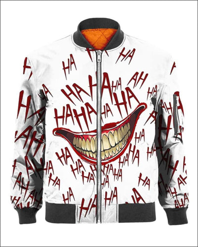 The Joker Laugh - All Over Apparel - Bomber / S - www.secrettees.com